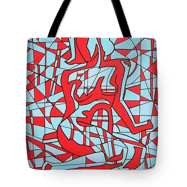 Lined Girl Tote Bag