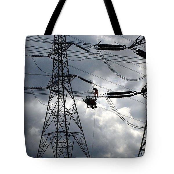 Lineman Tote Bag by John Chatterley