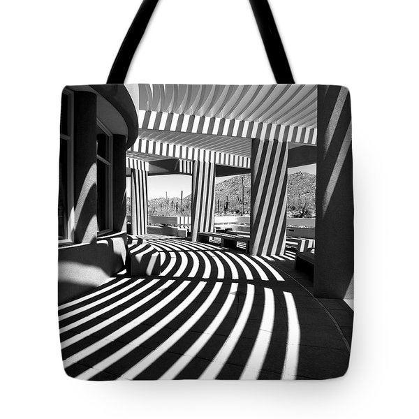 Tote Bag featuring the photograph Lines And Curves by Lucinda Walter