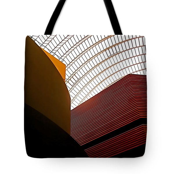 Lines And Light Tote Bag