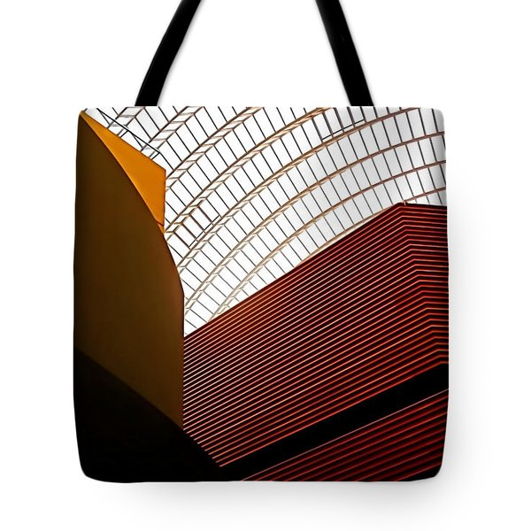 Lines And Light Tote Bag by Rona Black