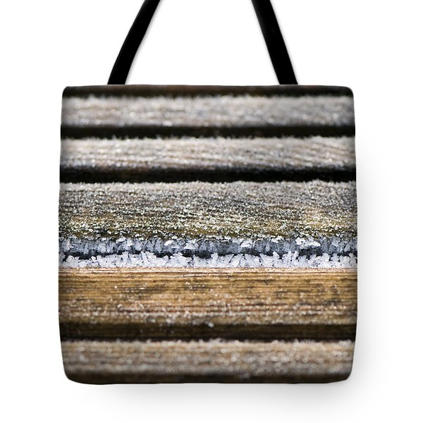 Lines Of Ice Tote Bag by Anne Gilbert