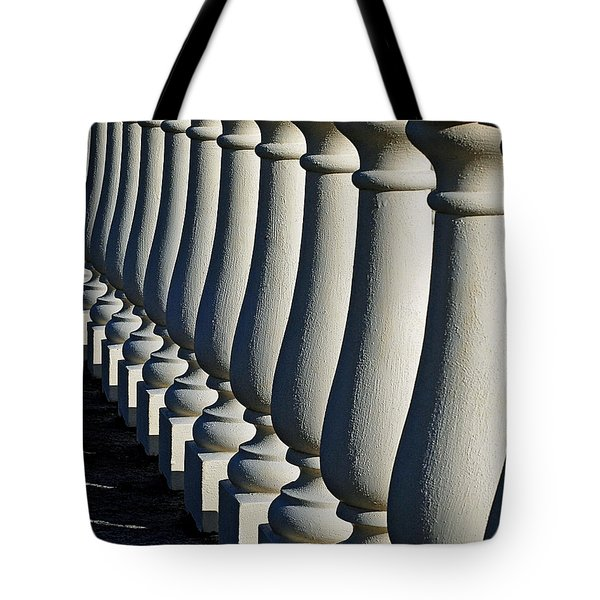 Tote Bag featuring the photograph Lineup by Lisa Phillips