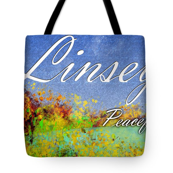Linsey - Peaceful Tote Bag by Christopher Gaston