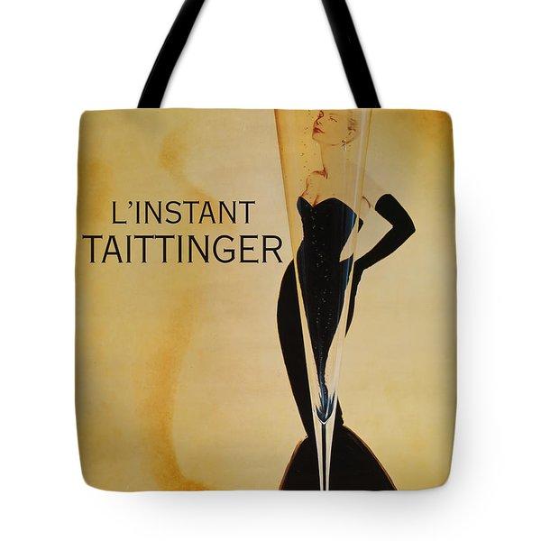 L'instant Taittinger Tote Bag