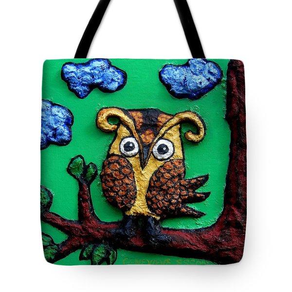 Lint Owl Detail Tote Bag