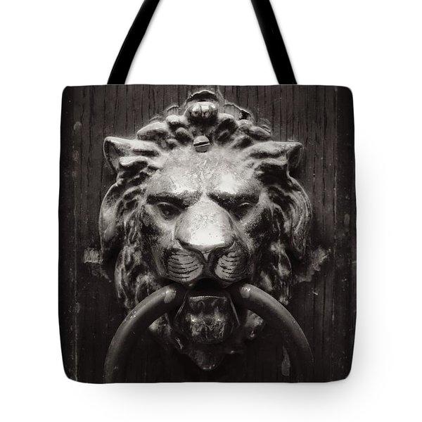 Lion Door Knocker Tote Bag by Carol Groenen