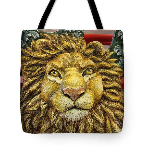 Lion Face Guitar Tote Bag by Cynthia Snyder