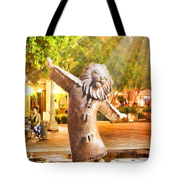 Lion Fountain Tote Bag