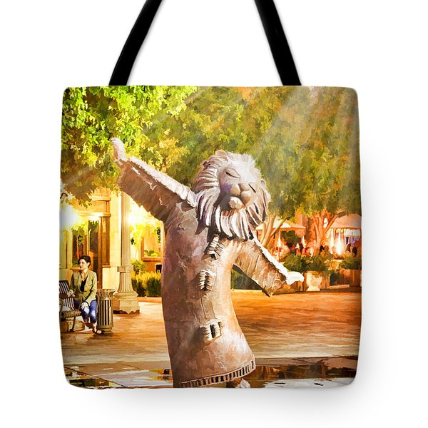 Lion Fountain Tote Bag by Chuck Staley