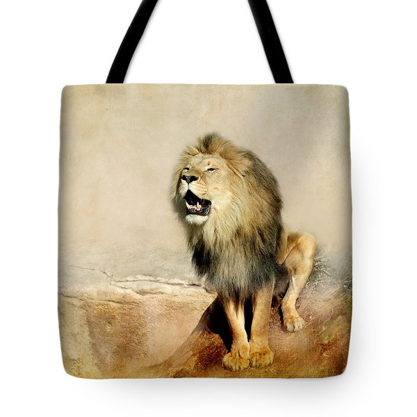 Lion Tote Bag by Heike Hultsch
