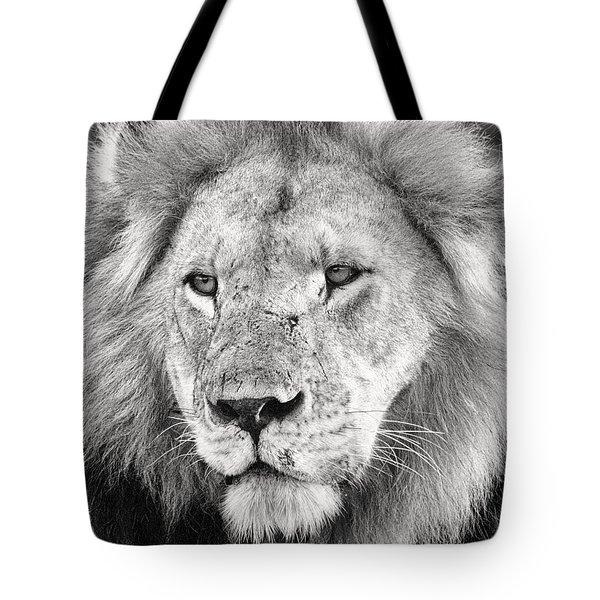 Lion King Tote Bag by Adam Romanowicz