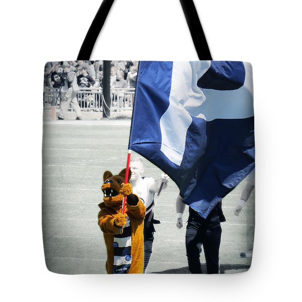 Lion Leading The Team Tote Bag