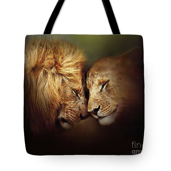 Lion Love Tote Bag by Robert Foster