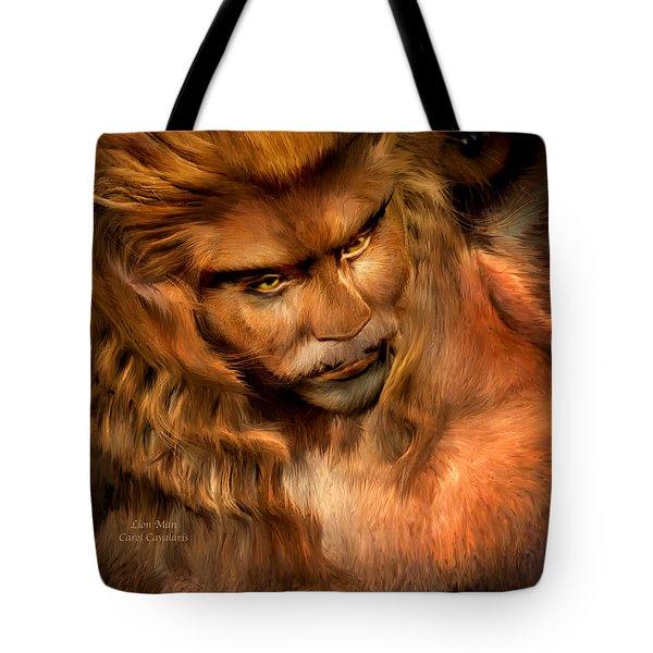 Lion Man Tote Bag by Carol Cavalaris