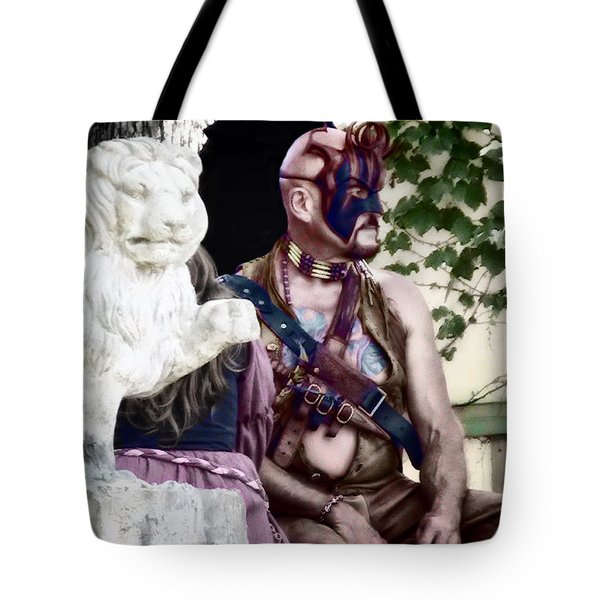 Lion Man Tote Bag by Thomas Woolworth