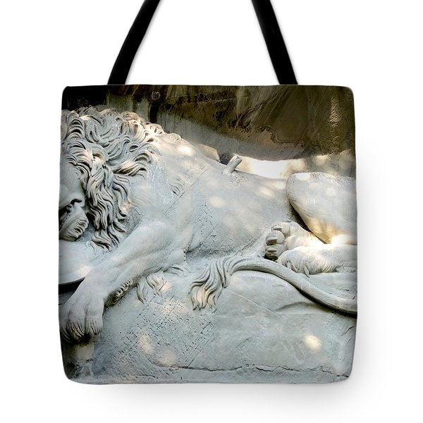 Lion Monument In Lucerne Switzerland Tote Bag