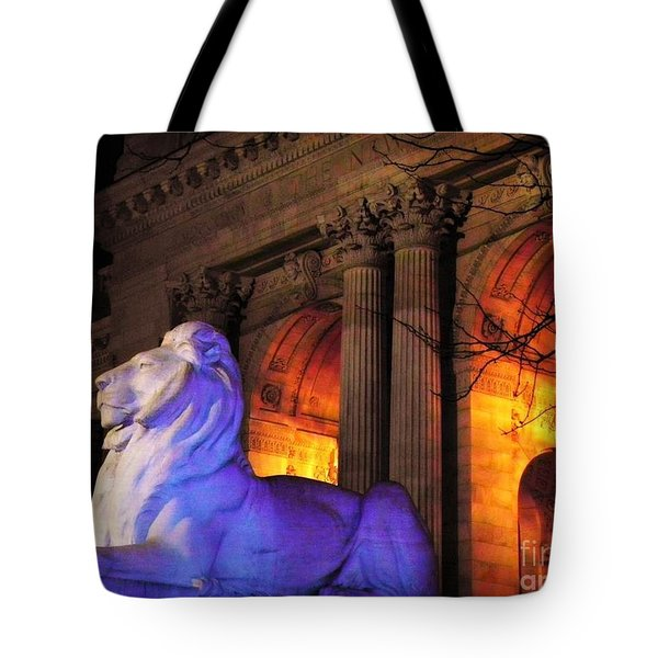 Lion Nyc Public Library Tote Bag