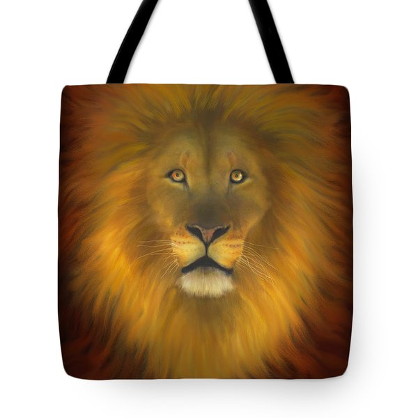 Lion Of Judah Fire In His Eyes 2 Tote Bag by Constance Woods