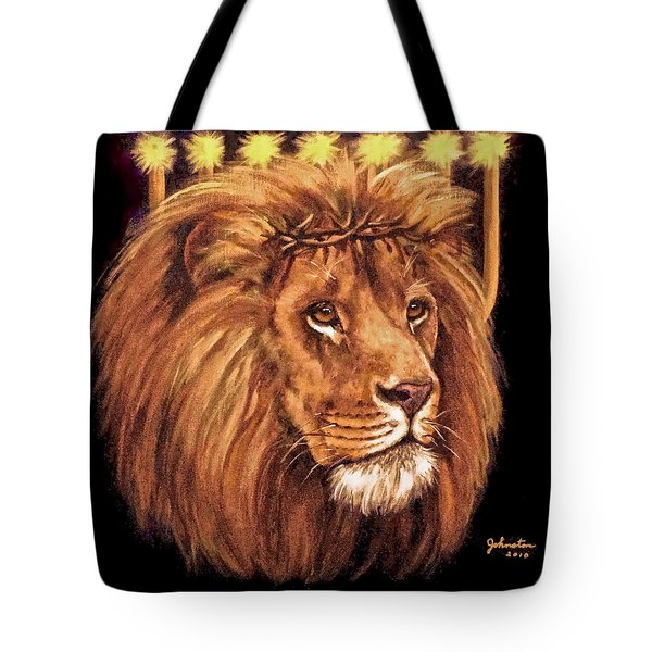 Lion Of Judah - Menorah Tote Bag