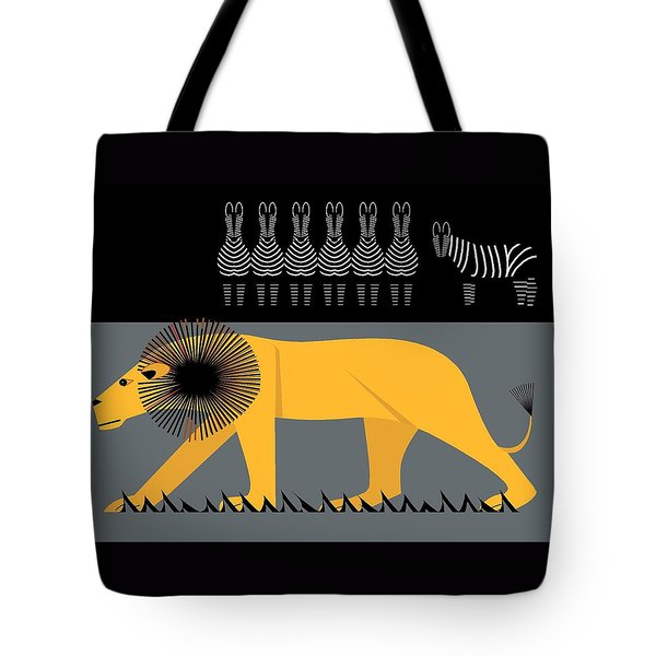Lion On The Loose Tote Bag