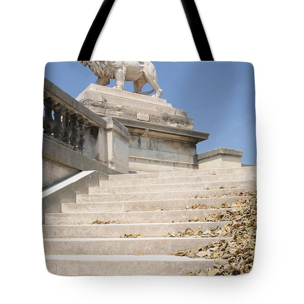 Lion Tuileries Garden Paris Tote Bag