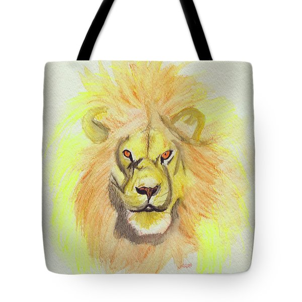 Lion Yellow Tote Bag