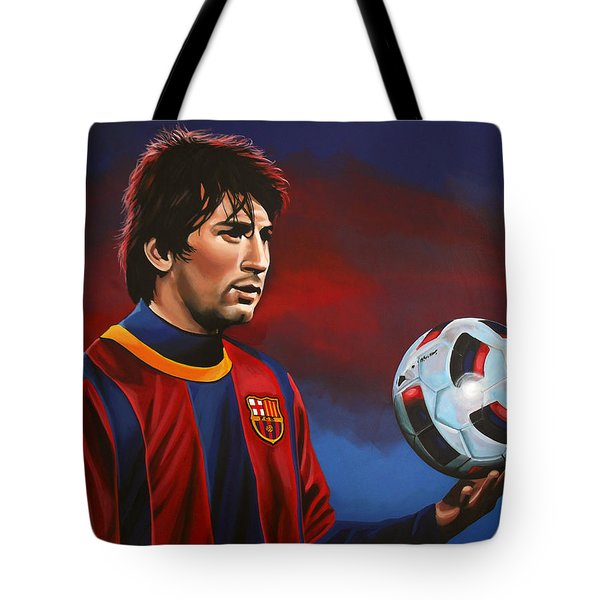 Lionel Messi 2 Tote Bag