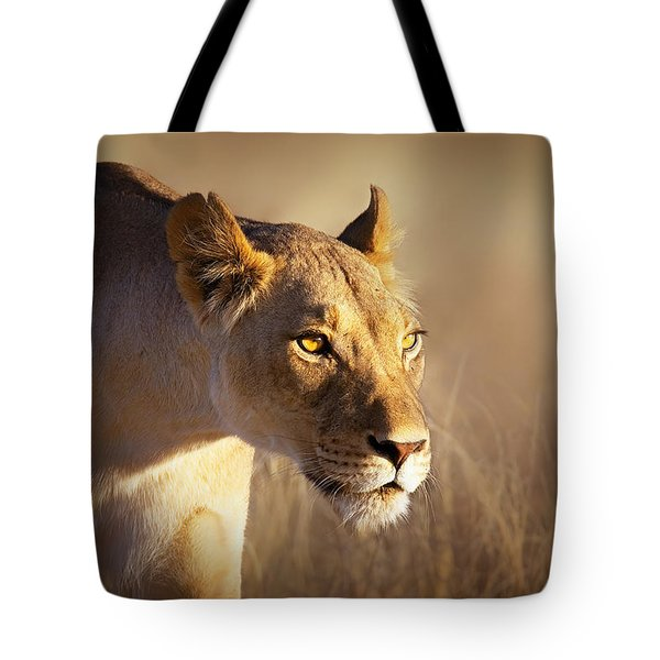 Lioness Portrait-1 Tote Bag