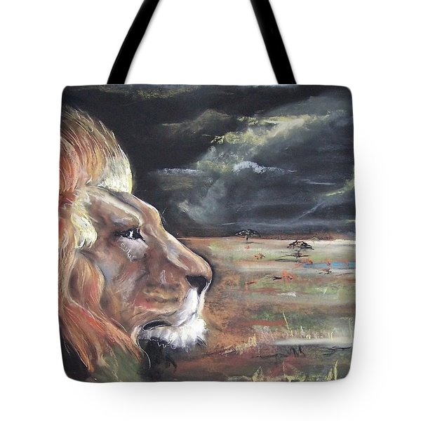 Lions Domain Tote Bag by Peter Suhocke