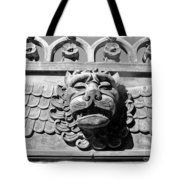 Lions Head Tote Bag by Carsten Reisinger