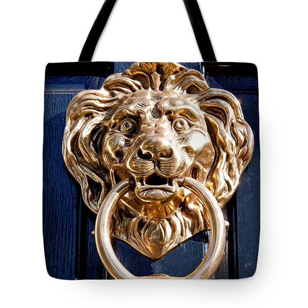 Lion's Head Tote Bag by Jean Haynes
