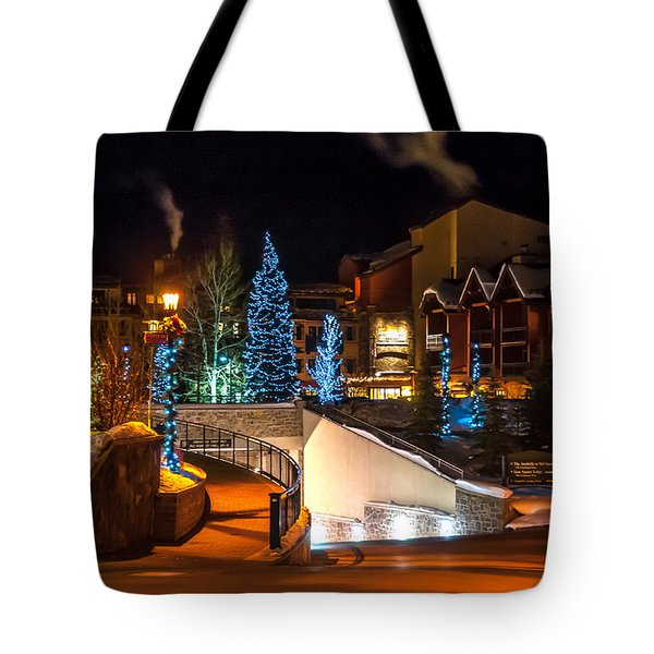 Lions Head Village Vail Colorado Tote Bag