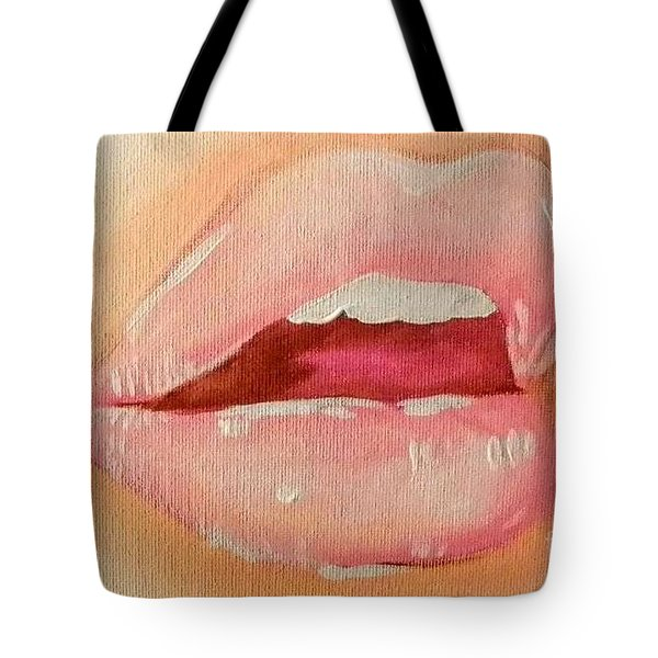 Lips Soft Tote Bag by Marisela Mungia