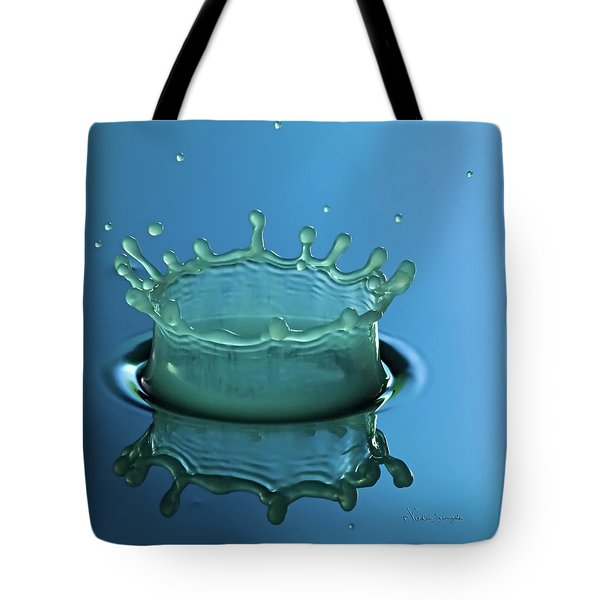 Liquid Crown Square Tote Bag