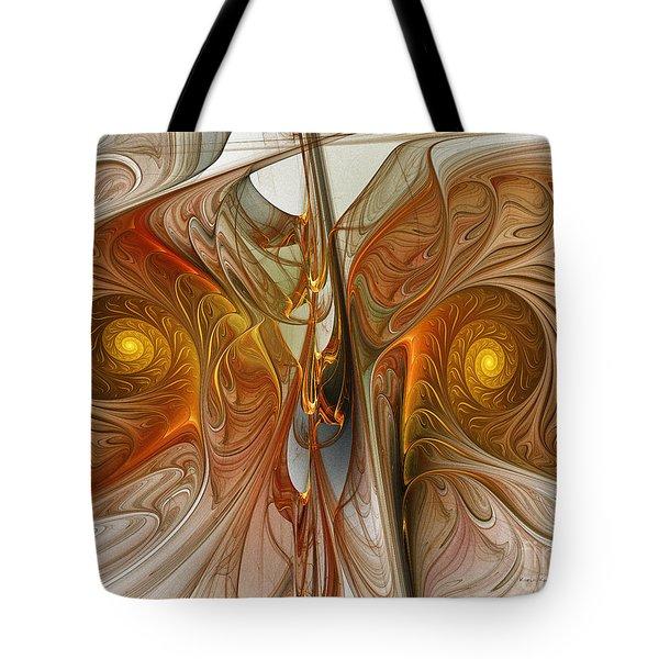 Liquid Crystal Spirals Tote Bag