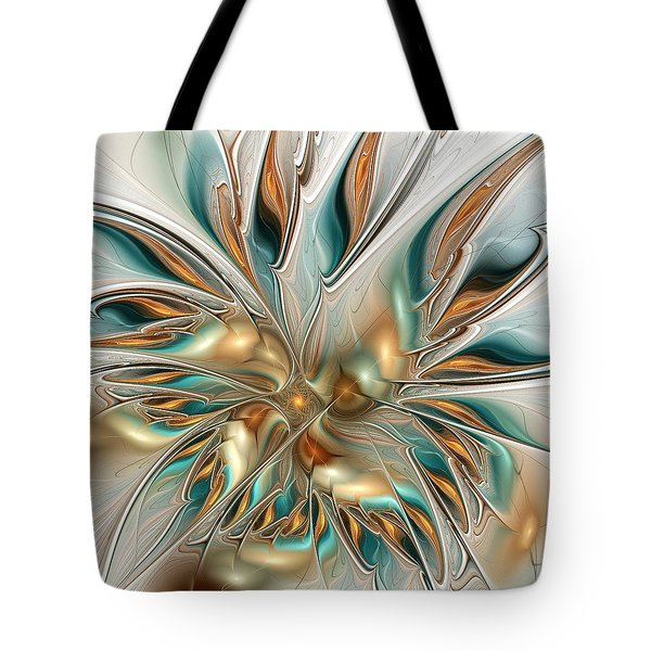 Liquid Flame Tote Bag by Anastasiya Malakhova