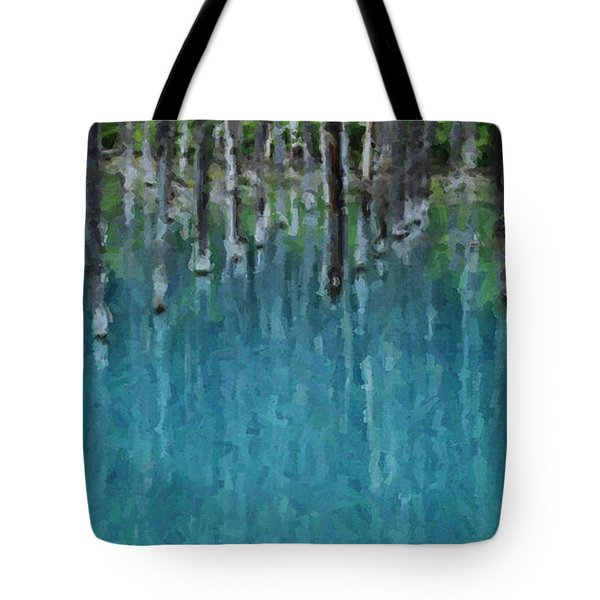 Liquid Forest Tote Bag