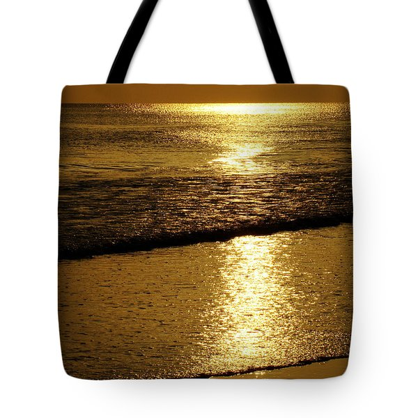 Liquid Gold Tote Bag by Sandy Keeton
