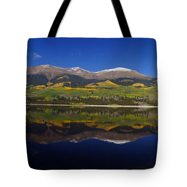 Liquid Mirror Panorama Tote Bag by Jeremy Rhoades