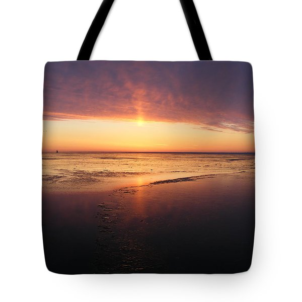 Liquid Sunrise Tote Bag
