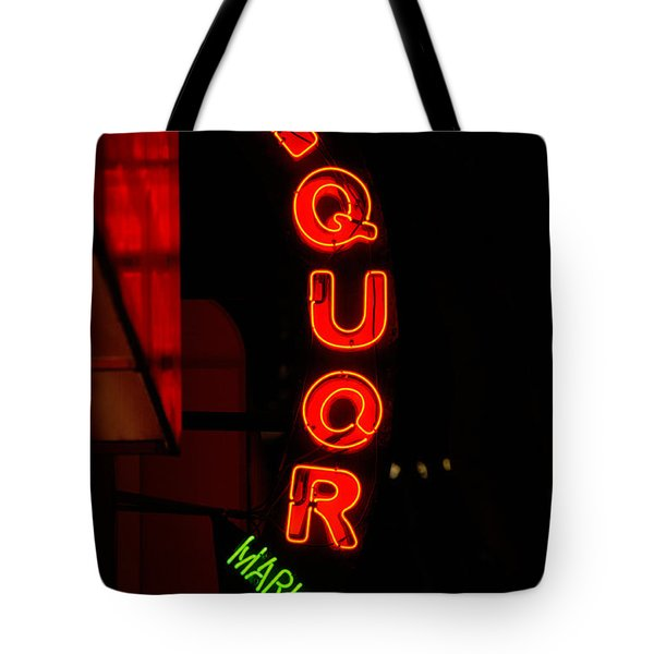 Liquor Market Tote Bag by Lee Roth