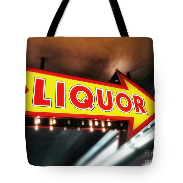 Liquor Store Sign Tote Bag