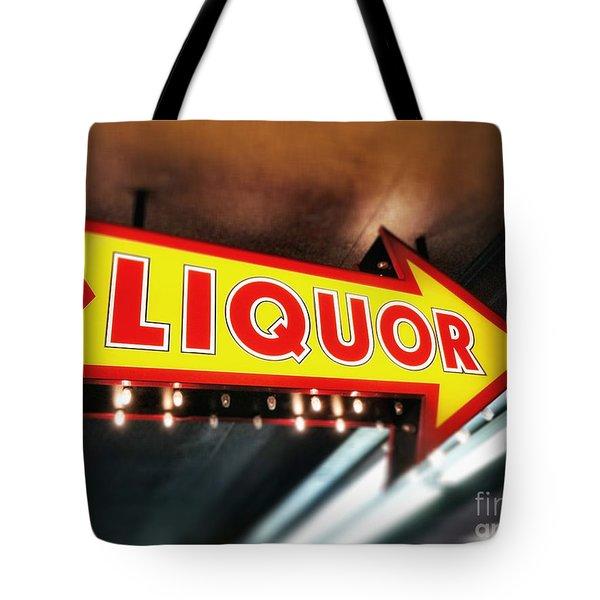 Liquor Store Sign Tote Bag