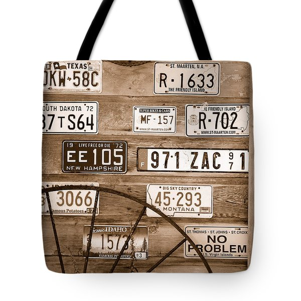 Liscensed Shed Wall Tote Bag by Holly Blunkall