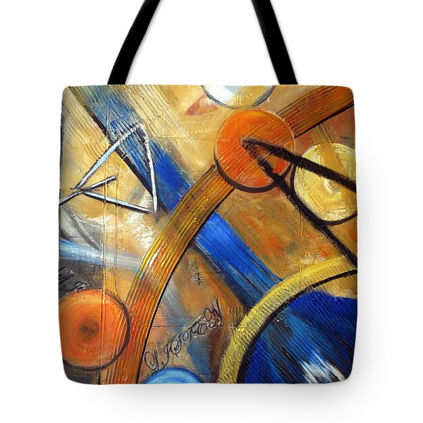 Listen To The Music Tote Bag by Roberta Rotunda