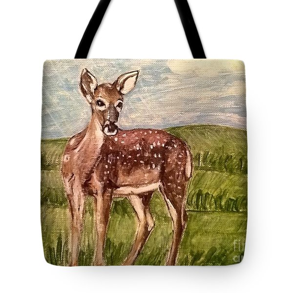 Tote Bag featuring the painting Listening To The Creator's Voice by Kimberlee Baxter