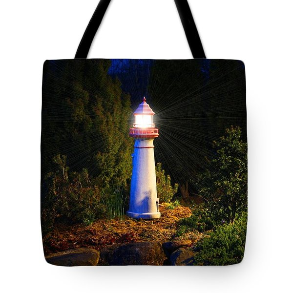 Lit-up Lighthouse Tote Bag