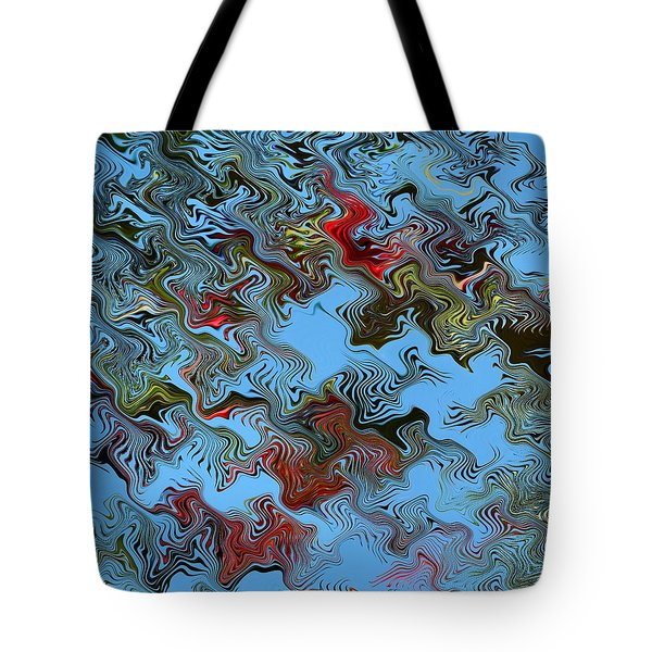 Tote Bag featuring the digital art Literati by rd Erickson