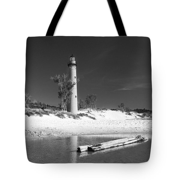 Litle Sable Light Station - Film Scan Tote Bag by Larry Carr